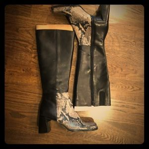 Nine West tall boots with zipper